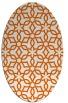 rug #329845 | oval red-orange geometry rug