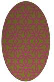 rug #329905 | oval light-green rug