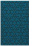 rug #330009 |  blue geometry rug
