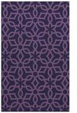 rug #330025 |  purple geometry rug