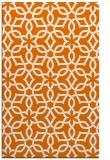 rug #330121 |  orange geometry rug
