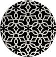 rug #330285   round white geometry rug