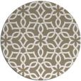 rug #330421   round white geometry rug