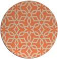 rug #330477   round orange popular rug