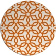 rug #330549 | round red-orange popular rug