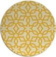 rug #330569 | round yellow rug