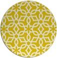 rug #330581 | round yellow geometry rug