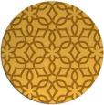 rug #330585 | round light-orange geometry rug