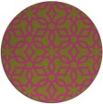 rug #330609 | round light-green rug