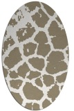 rug #331337 | oval beige animal rug