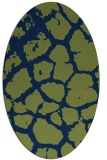 rug #331373 | oval blue animal rug
