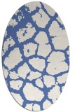 rug #331377 | oval blue animal rug