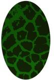 rug #331405   oval green animal rug