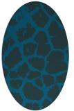 rug #331417 | oval blue animal rug