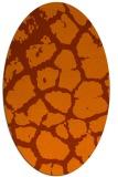 rug #331593 | oval red-orange animal rug