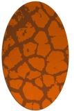 rug #331601 | oval red-orange animal rug
