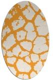 rug #331685 | oval light-orange animal rug