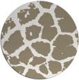 rug #332041 | round beige animal rug