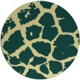 rug #332245 | round yellow animal rug