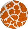 rug #332309 | round red-orange animal rug