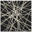 rug #333053 | square black abstract rug