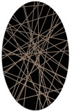 rug #333109 | oval black graphic rug