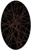 rug #333113 | oval black graphic rug