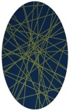 rug #333133 | oval blue graphic rug