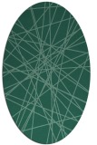 rug #333153 | oval blue-green abstract rug