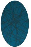 rug #333177 | oval blue abstract rug