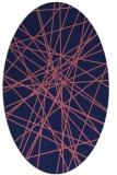 rug #333189   oval pink graphic rug