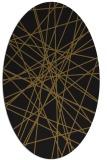 rug #333213 | oval black graphic rug