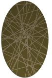 rug #333217 | oval brown rug
