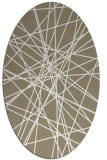 rug #333237   oval white abstract rug