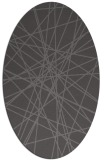rug #333245 | oval brown graphic rug