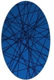 rug #333265 | oval blue abstract rug