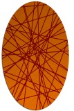 rug #333285 | oval red-orange abstract rug