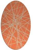 rug #333293 | oval orange rug