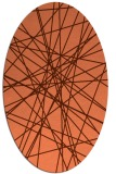 rug #333297 | oval orange graphic rug