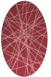 rug #333313 | oval pink abstract rug
