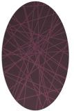 rug #333321   oval purple graphic rug