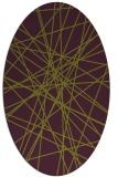 rug #333325   oval purple graphic rug