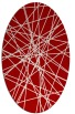 rug #333337 | oval red abstract rug