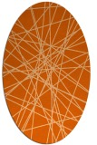 rug #333357 | oval red-orange abstract rug