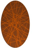 rug #333361 | oval red-orange abstract rug