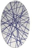 rug #333377   oval blue abstract rug