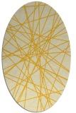 rug #333385 | oval yellow rug