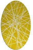 rug #333397 | oval white abstract rug