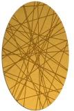 rug #333401 | oval light-orange graphic rug