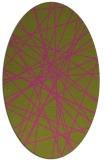 rug #333425   oval light-green abstract rug